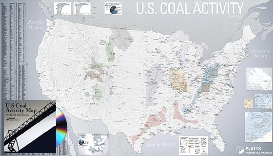 US Coal Activity Map Americas Maps And Geospatial Platts - Us coal map