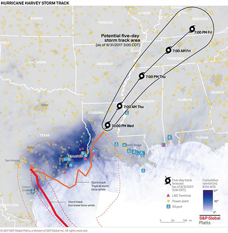 Hurricane Harvey all infrastructure map