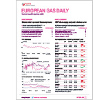 European Gas Daily